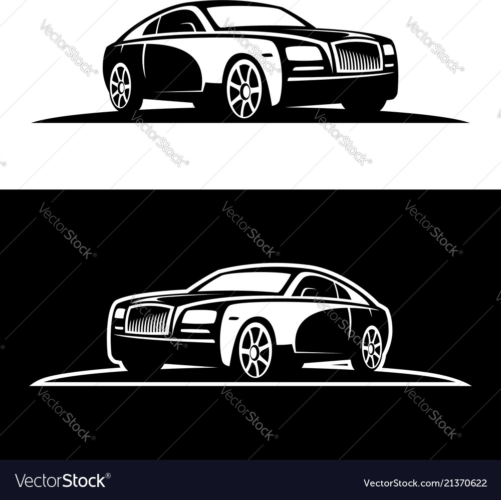 Luxury Car Silhouette Royalty Free Vector Image