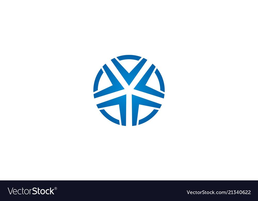 Star round geometry logo