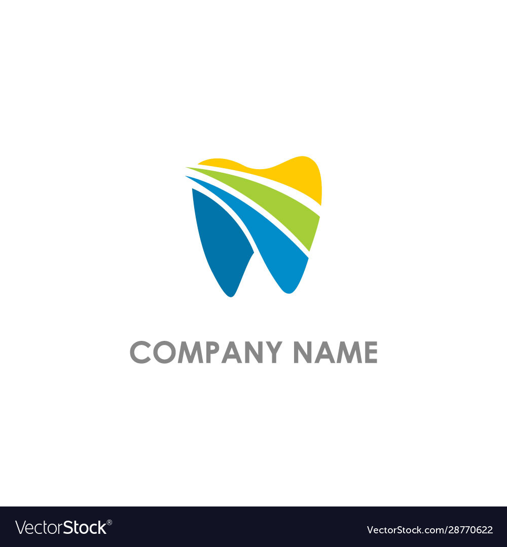 Tooth dental colored logo