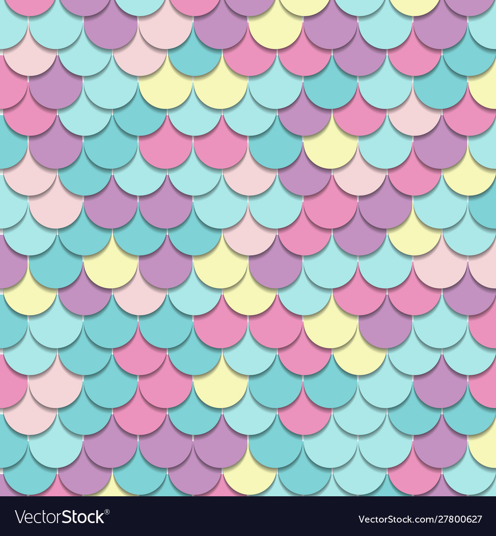 Abstract pattern fish scale motif pastel color