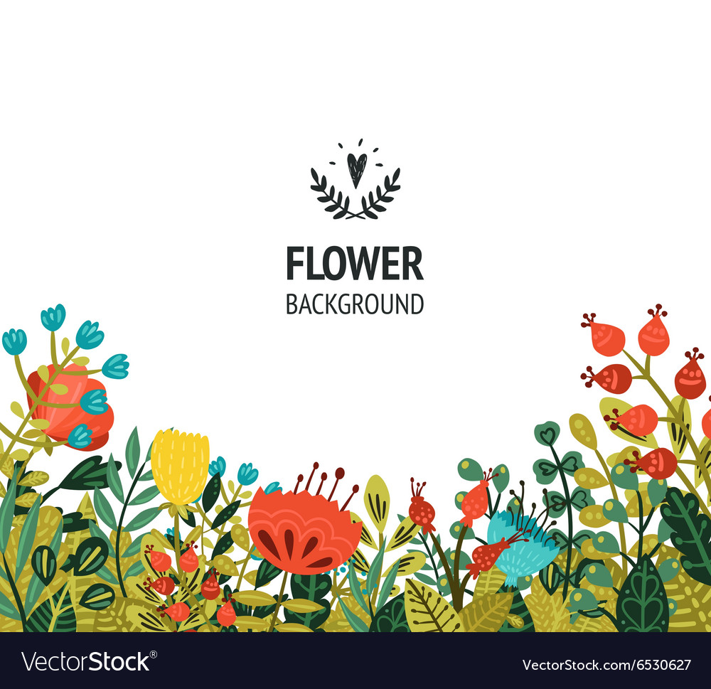 Floral background with cute flowers