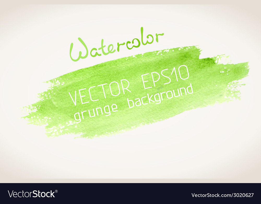Green watercolor blobs
