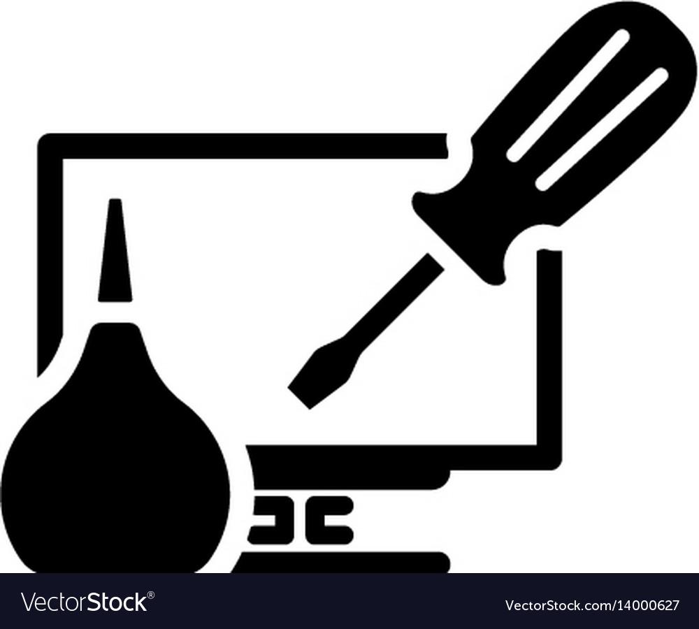 Pc repair icon flat design vector image