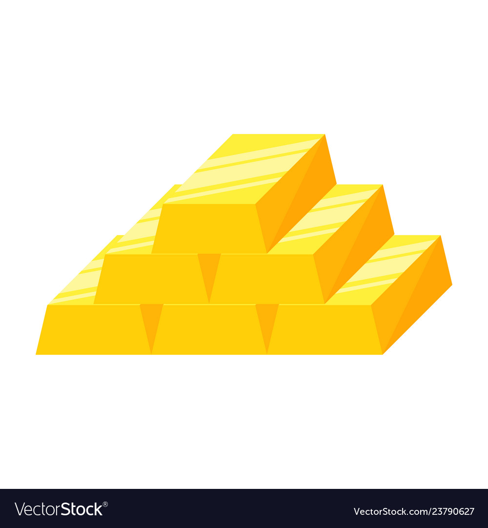 Stack of gold bars or ingot