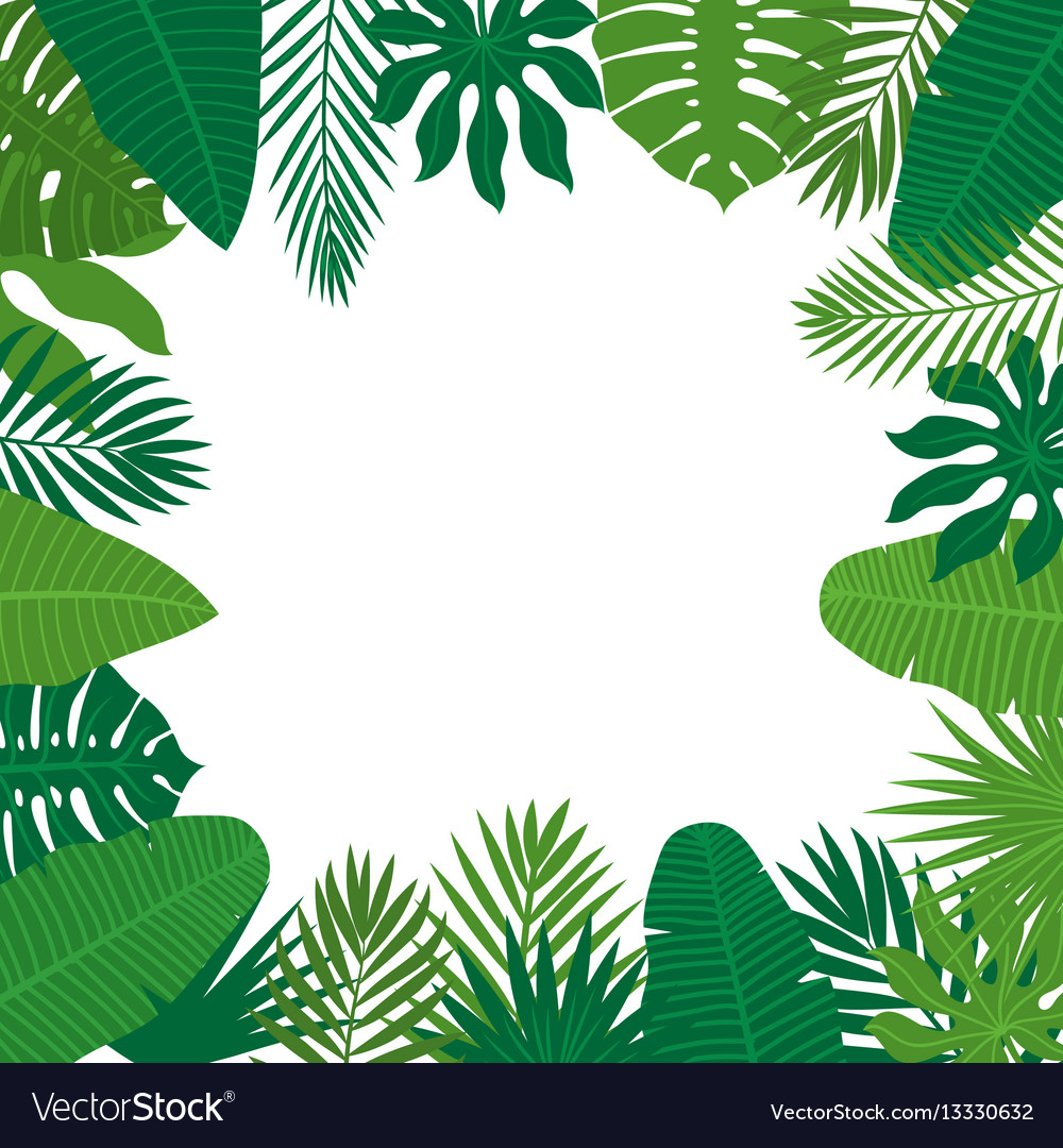 abstract background with tropical leaves jungle vector image rh vectorstock com jungle vector black and white jungle vector freepik