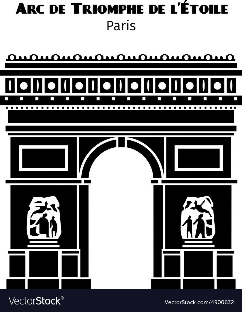 Arc de triomphe arch triumph star in