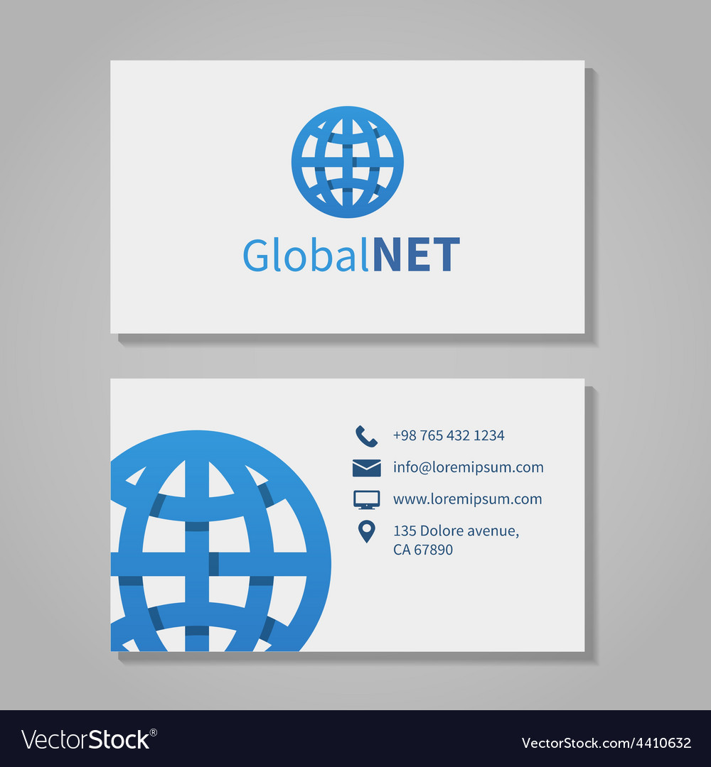 Global corporation business card royalty free vector image global corporation business card vector image reheart Images