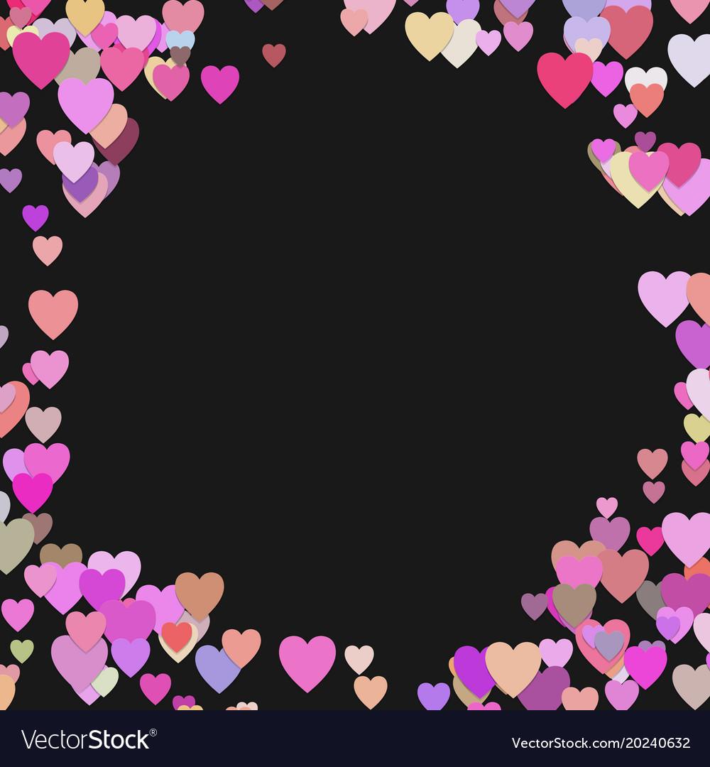 Happy random heart background design - valentines