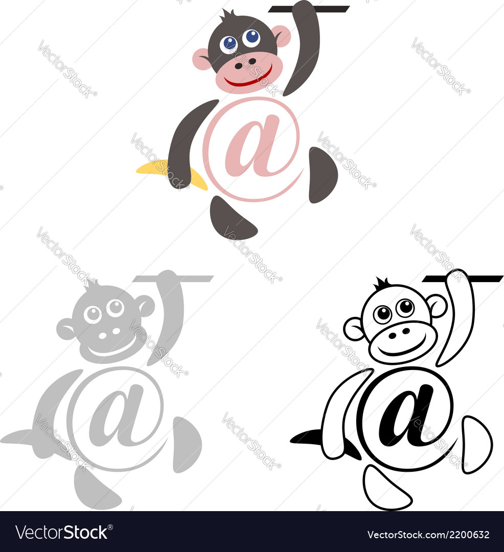 International sign email animals monkey