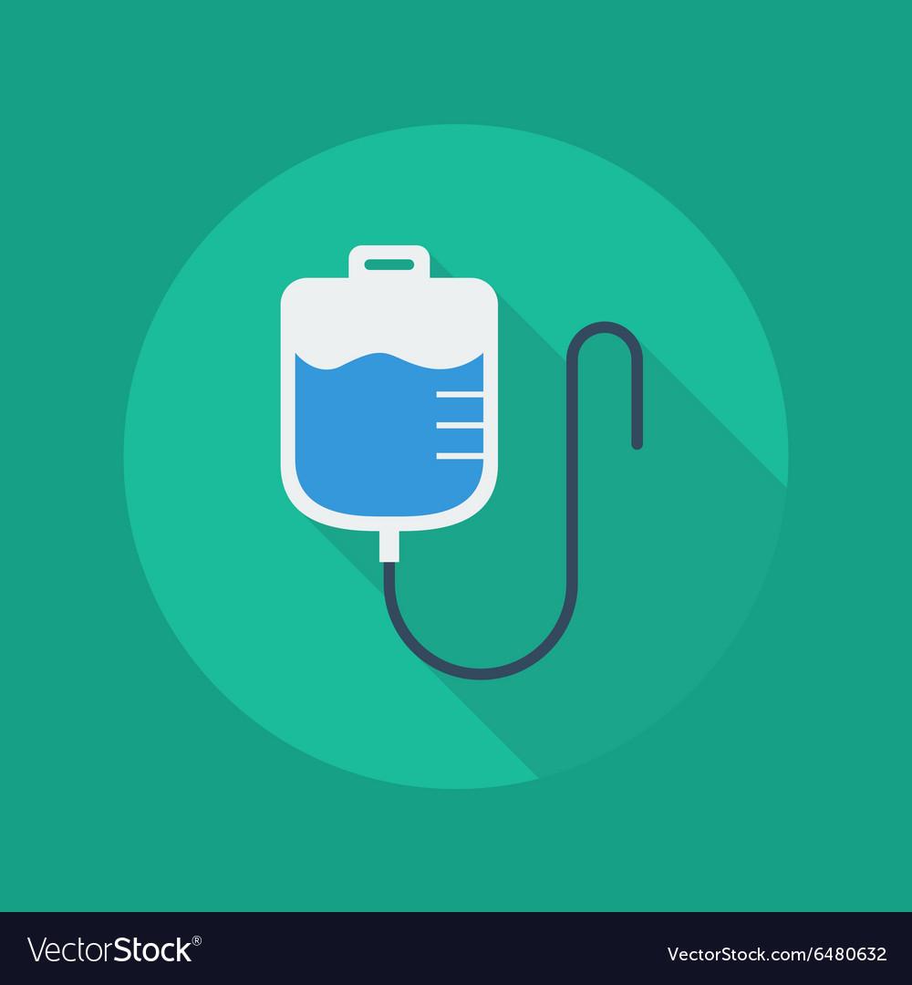 Medical Flat Icon Saline bag