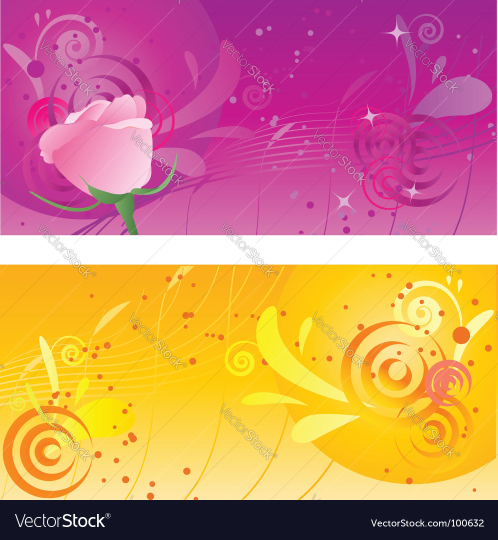 Pretty backgrounds with swirl design vector image