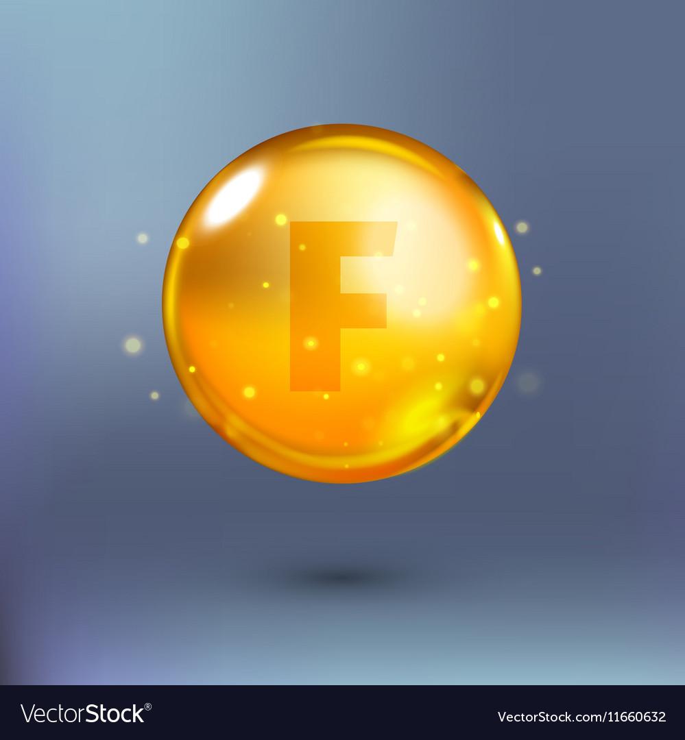Shining golden essence circle droplet