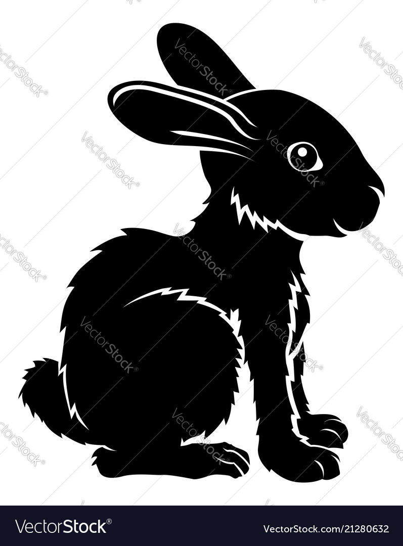 Stylised rabbit