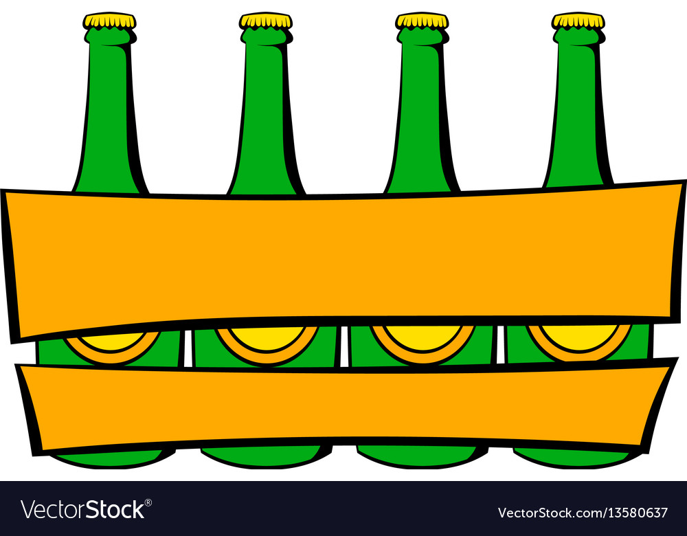 Beer wooden box icon icon cartoon