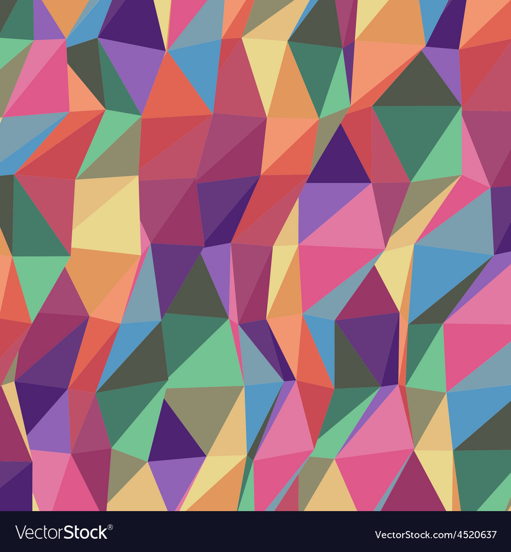 Colorful triangle geometric pattern Royalty Free Vector