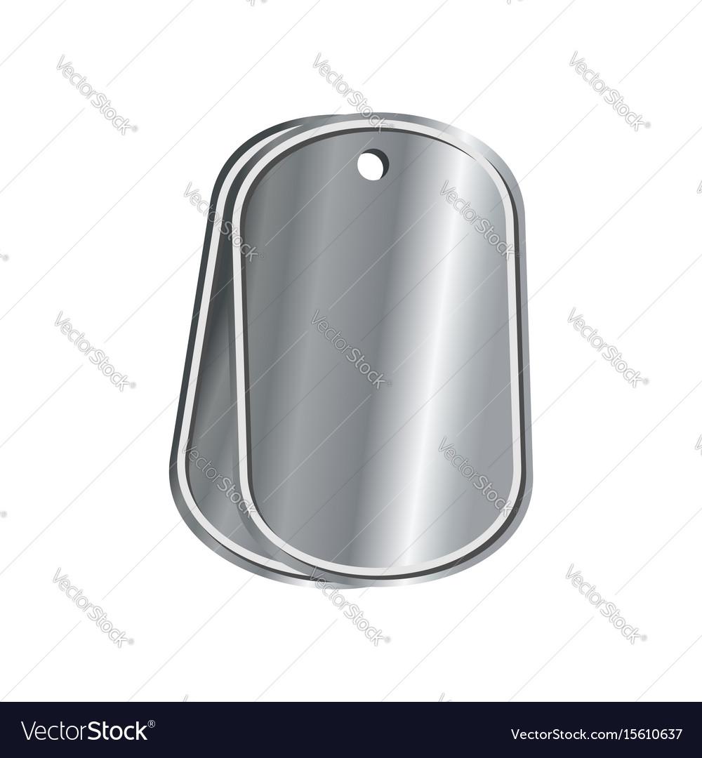 Dog tags military isolated death medallion vector image