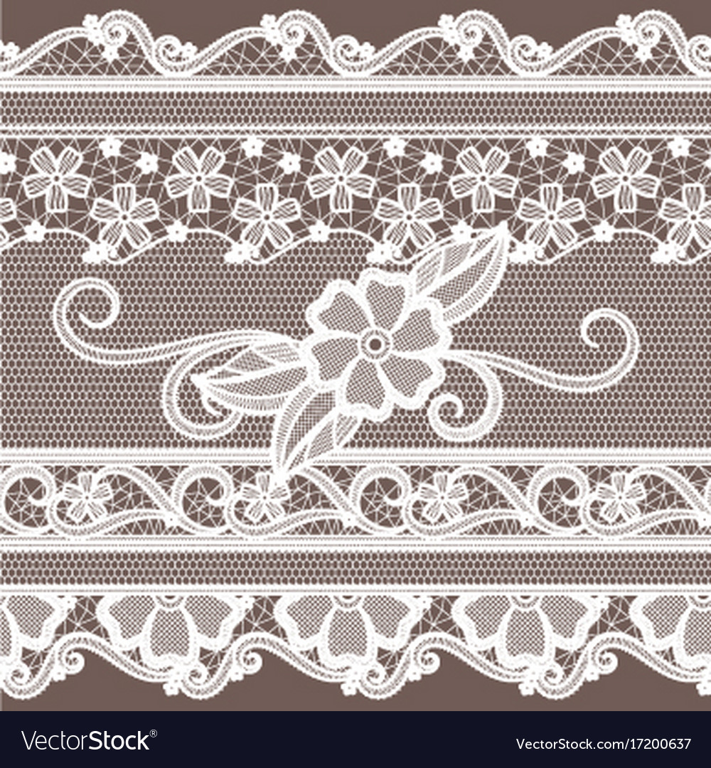 Fabric lace with flowers decoration fashion