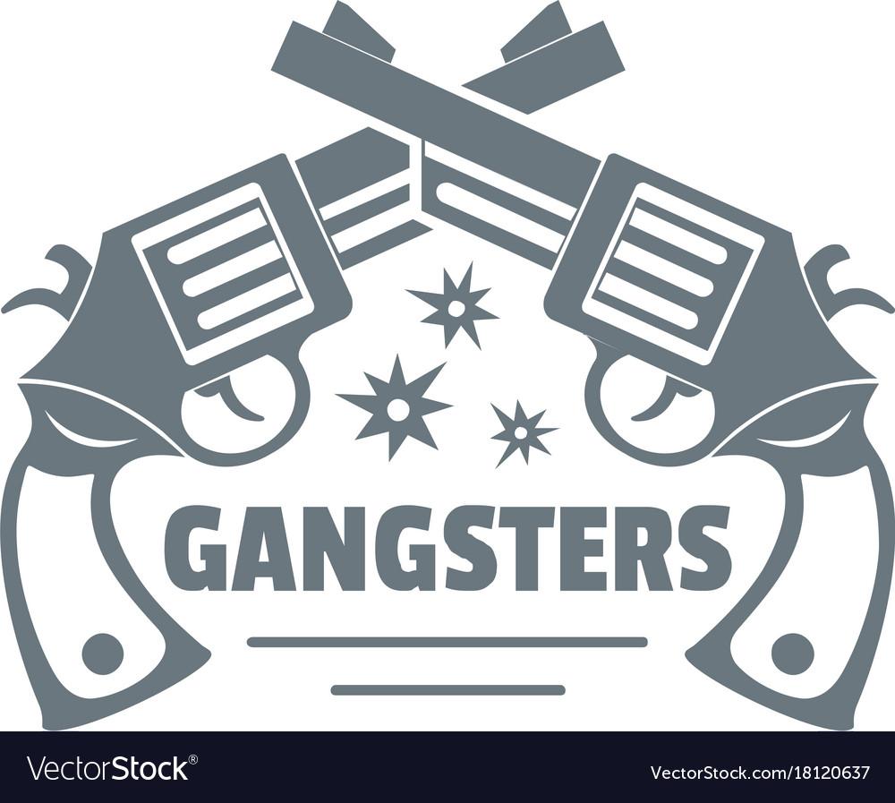 Gangsters logo vintage style