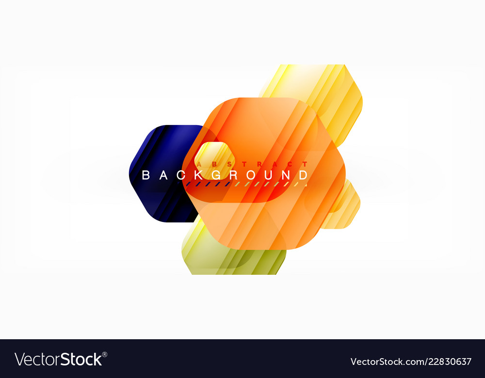 Glossy color hexagons modern composition