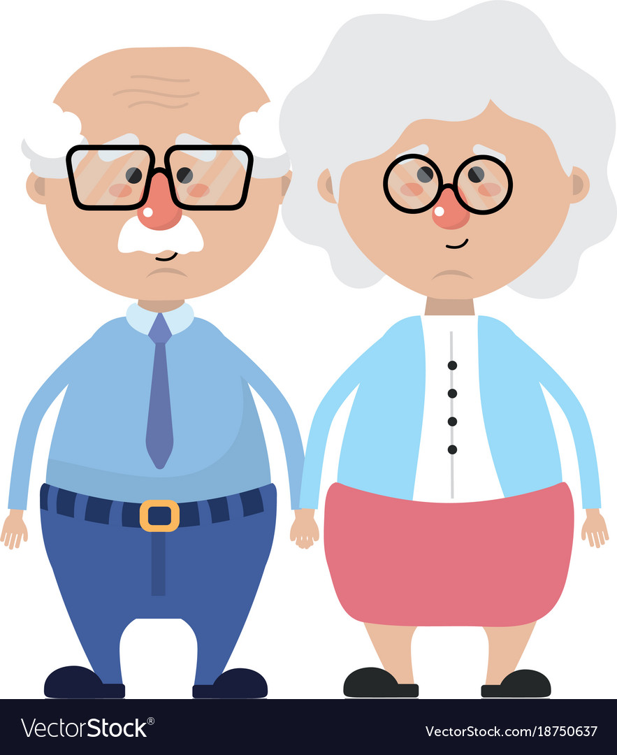 grandparents cartoon design royalty free vector image