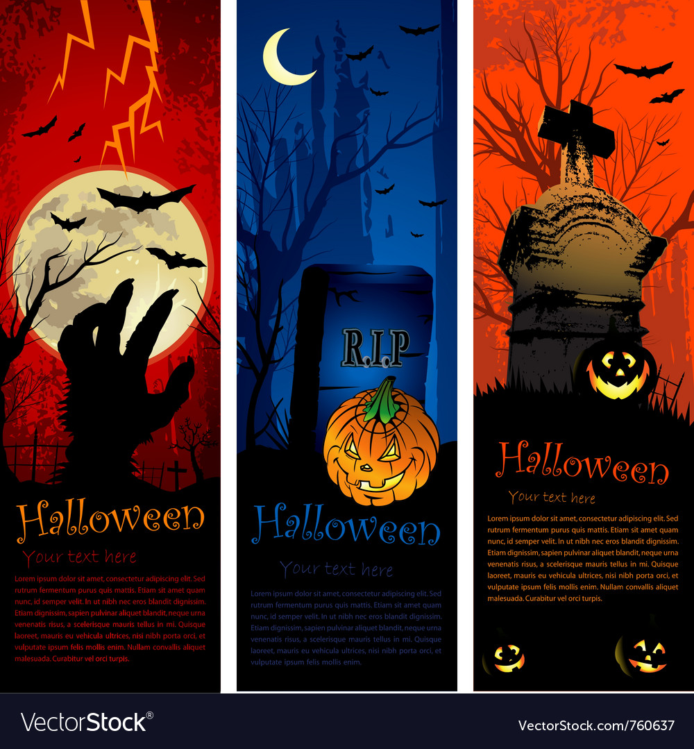 Halloween party invitation banners