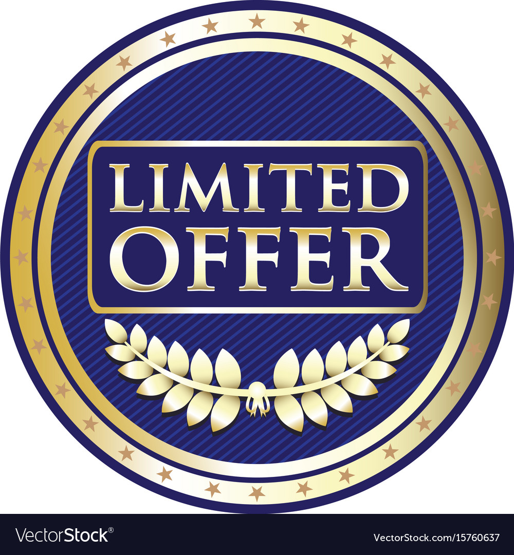 Limited offer label vector image