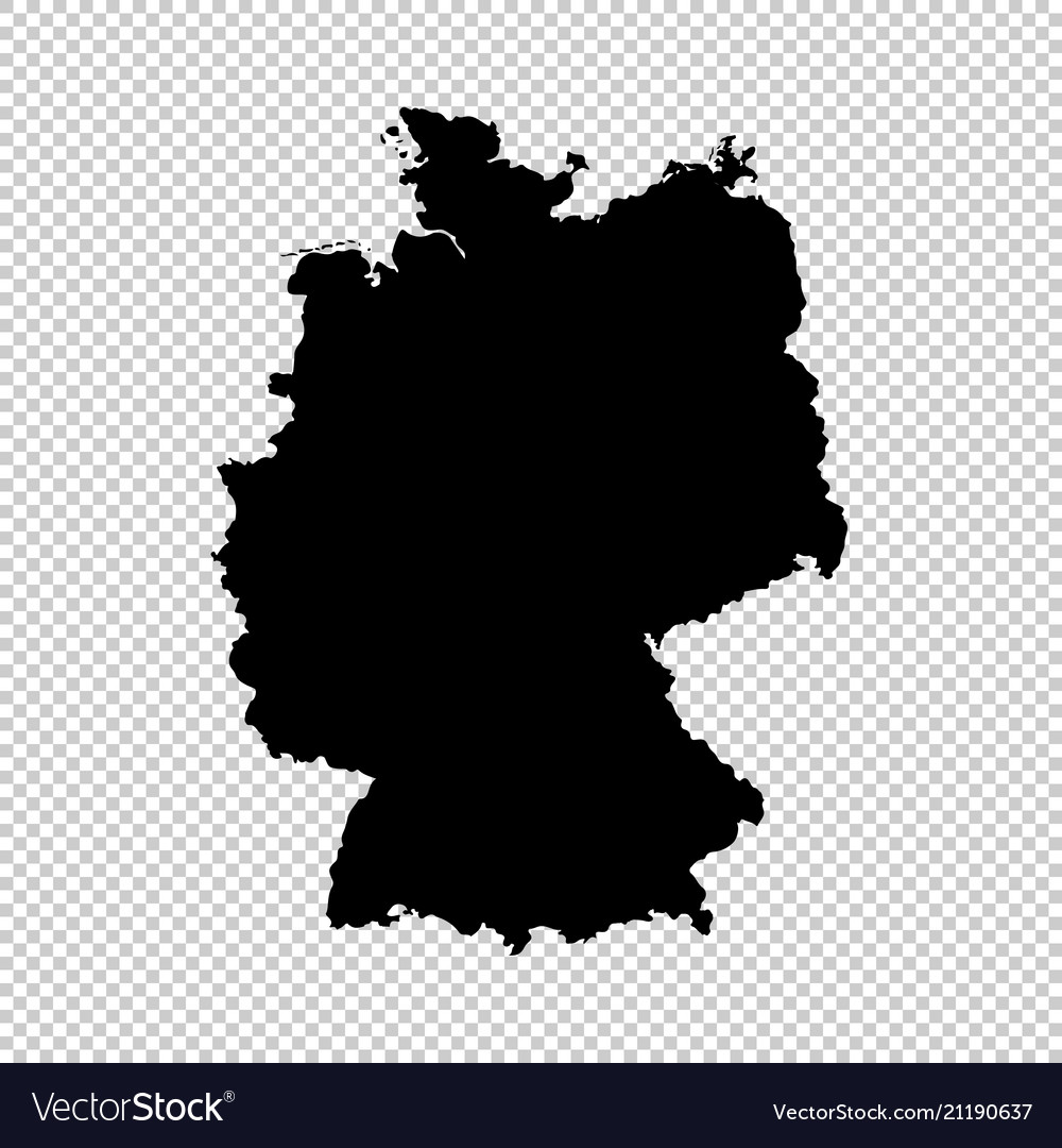 Map germany isolated black