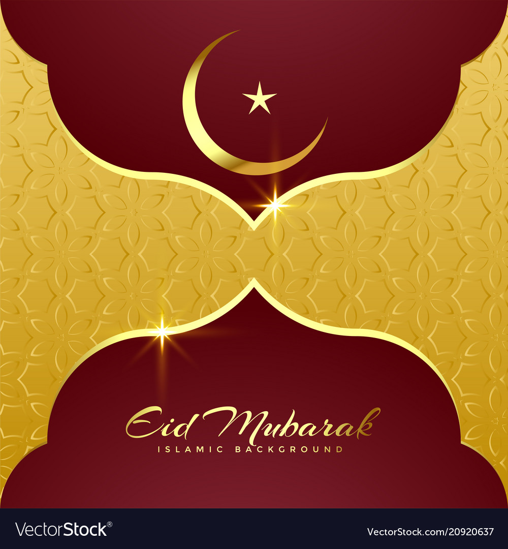 Premium eid mubarak greeting card design Vector Image