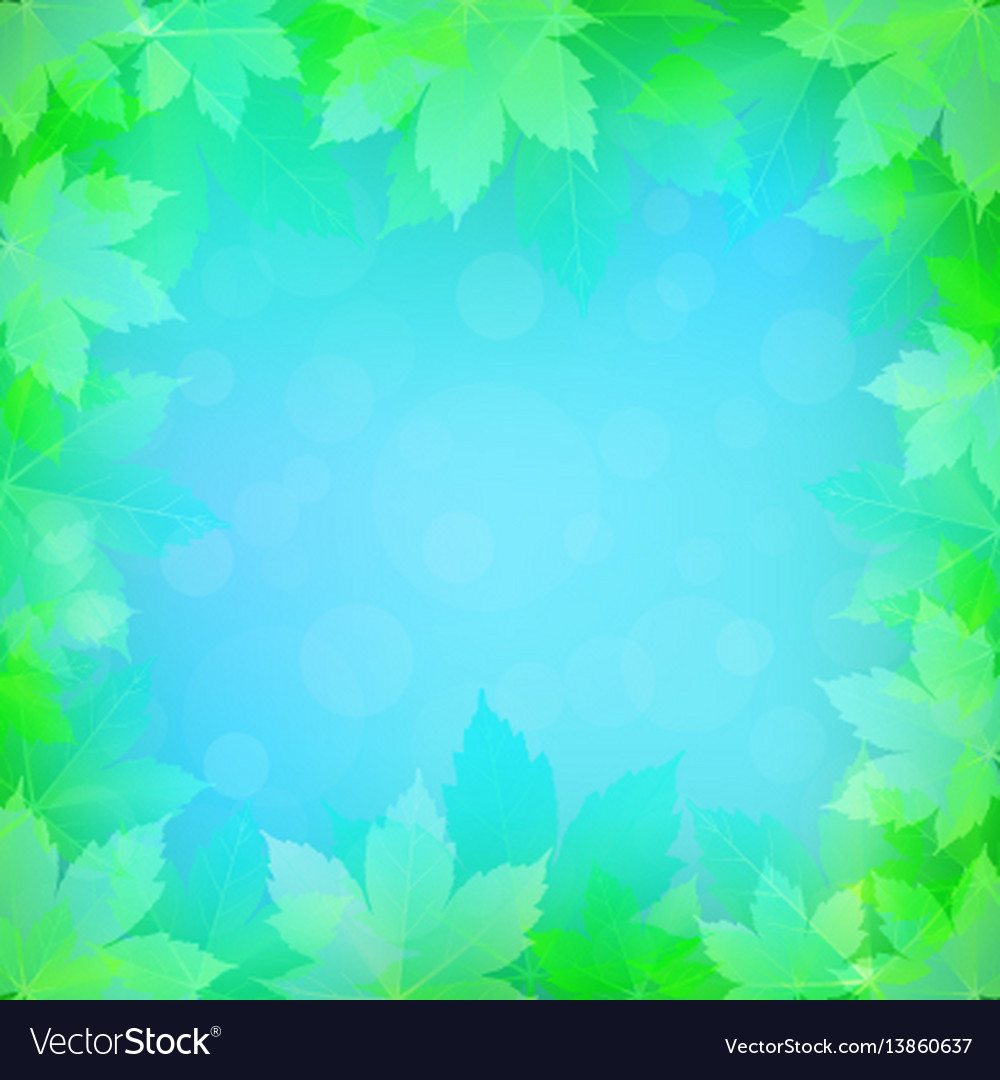 Spring or summer background with bokeh lights