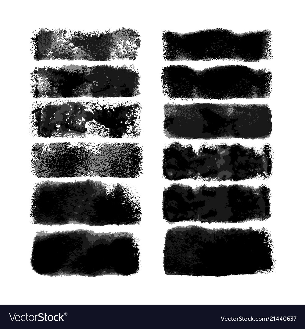 Watercolor wide brushes set