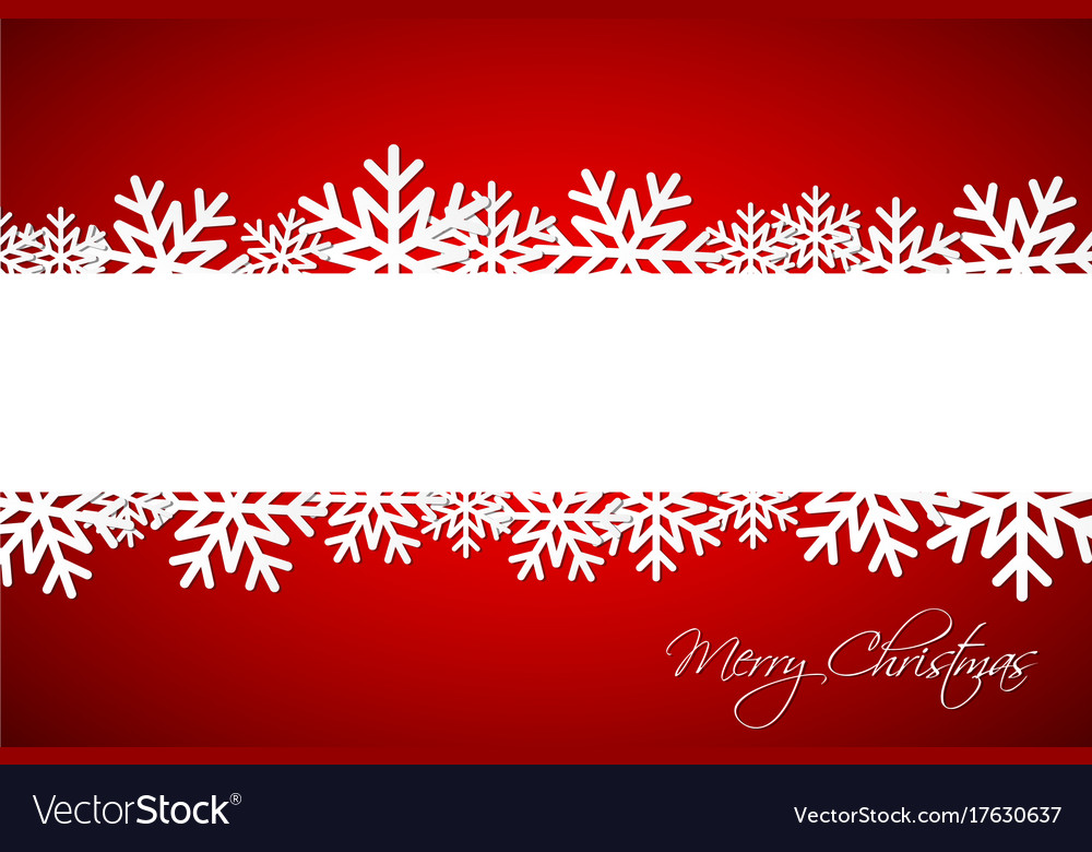 White Christmas Background.White Christmas Snowflake On Red Background