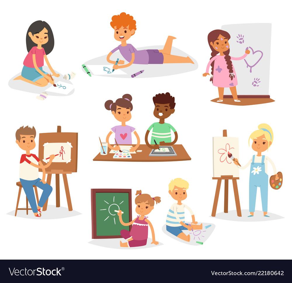 Artist kids children painting making art