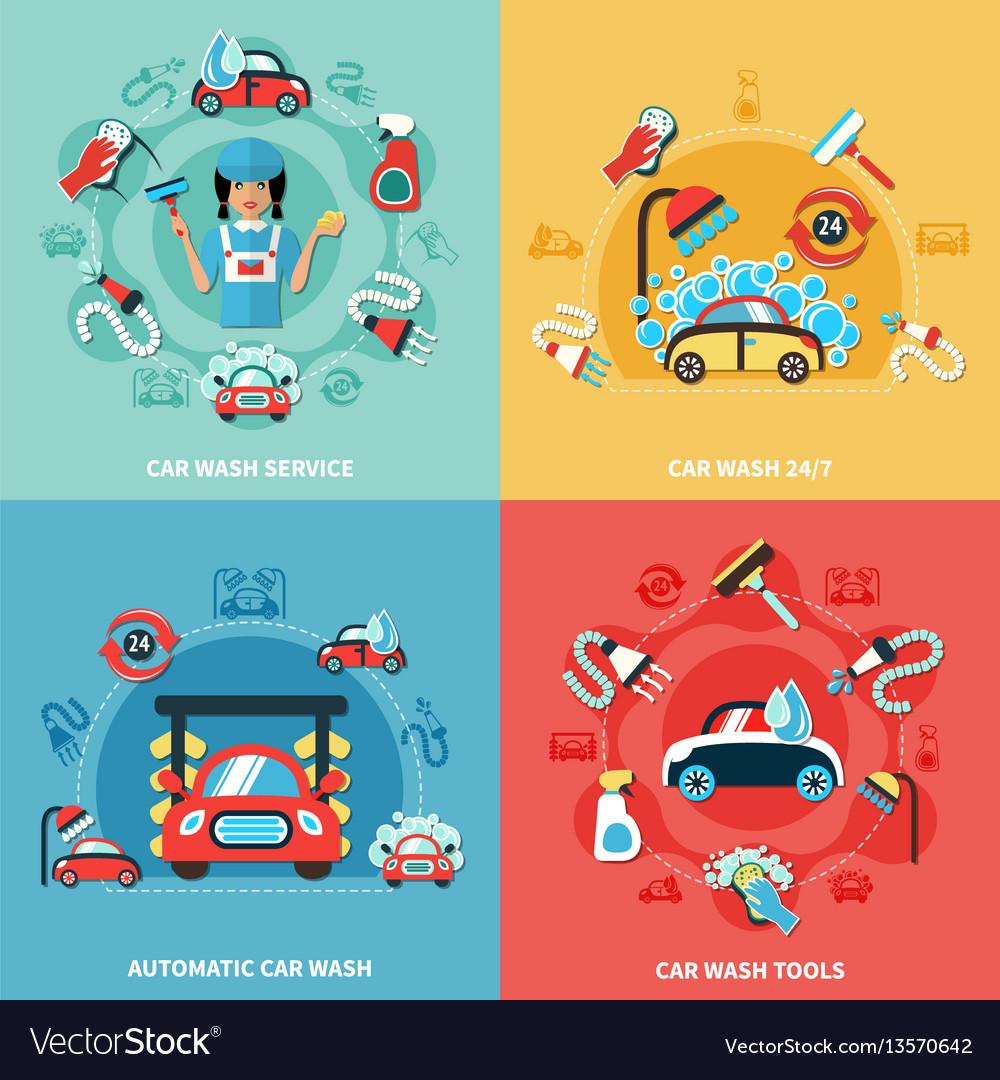 Car wash compositions set
