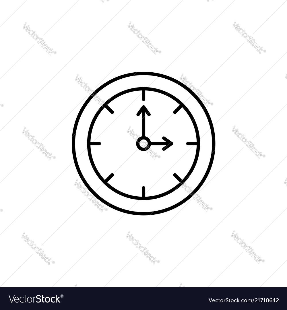 Clock line icon black
