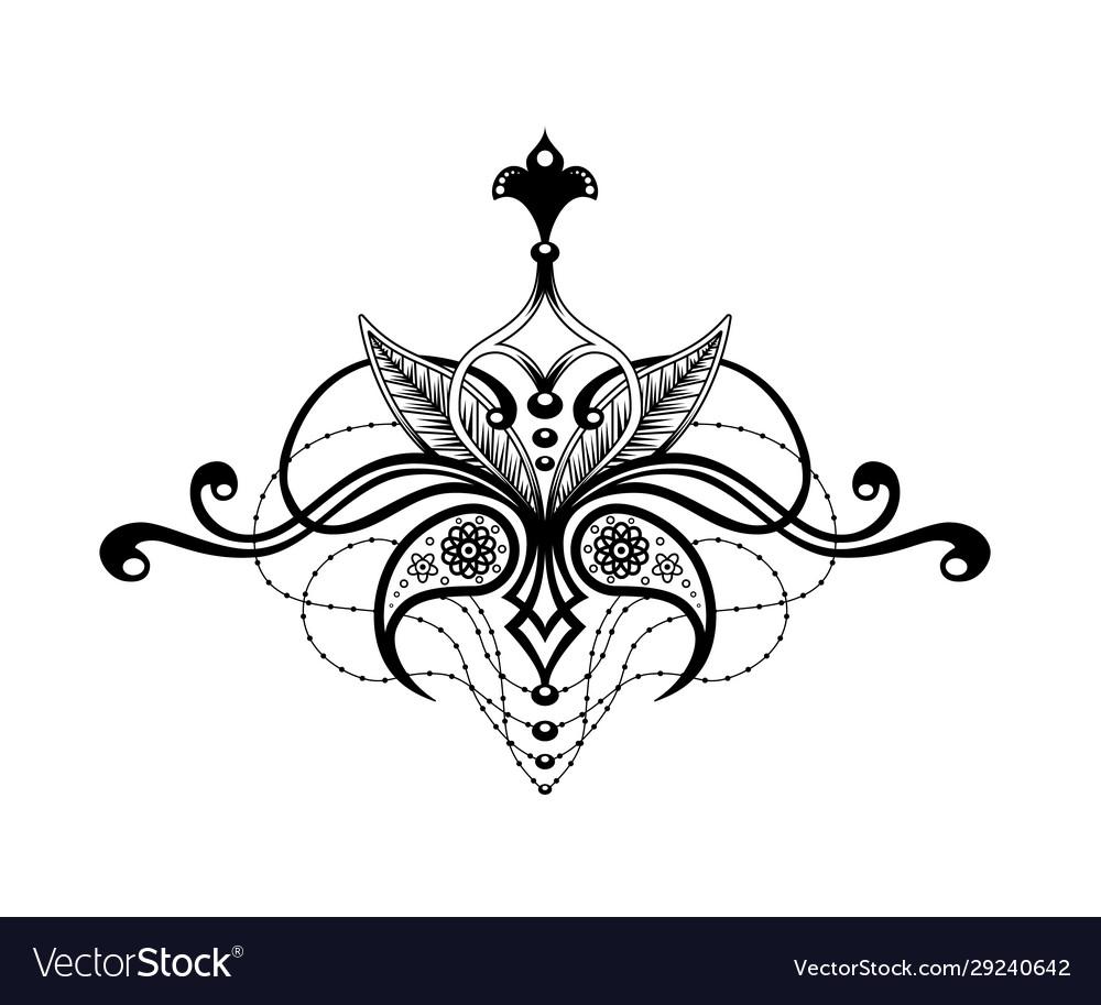 Elegant ethnic pattern isolated in white