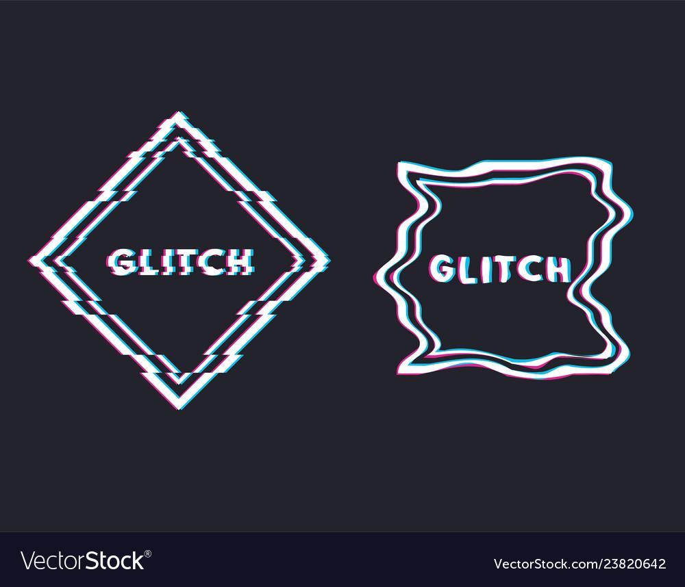 Glitch square banner