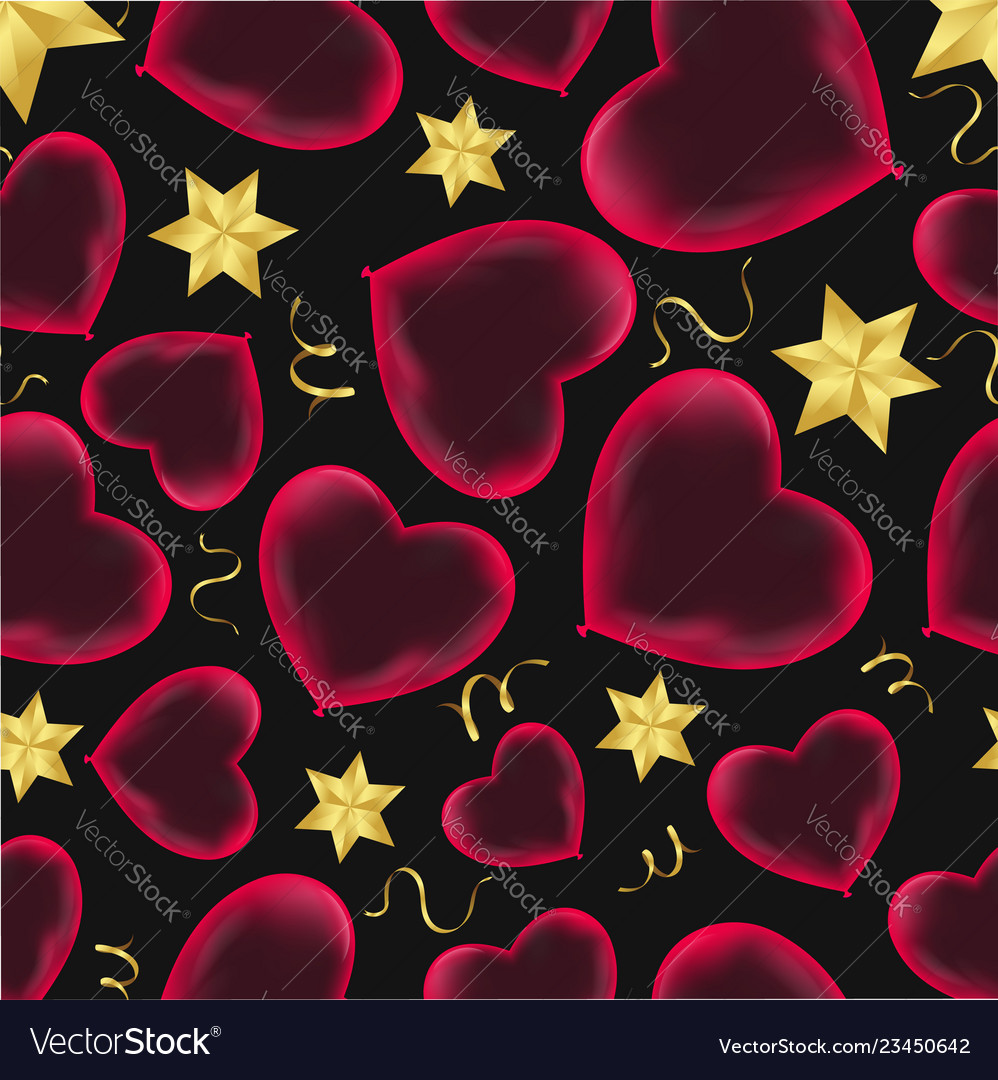 Hearts seamless pattern wrapping paper design