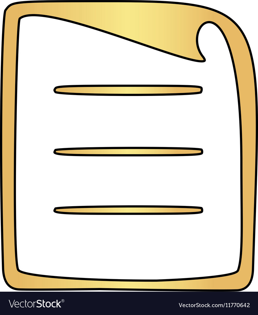 Paper document computer symbol
