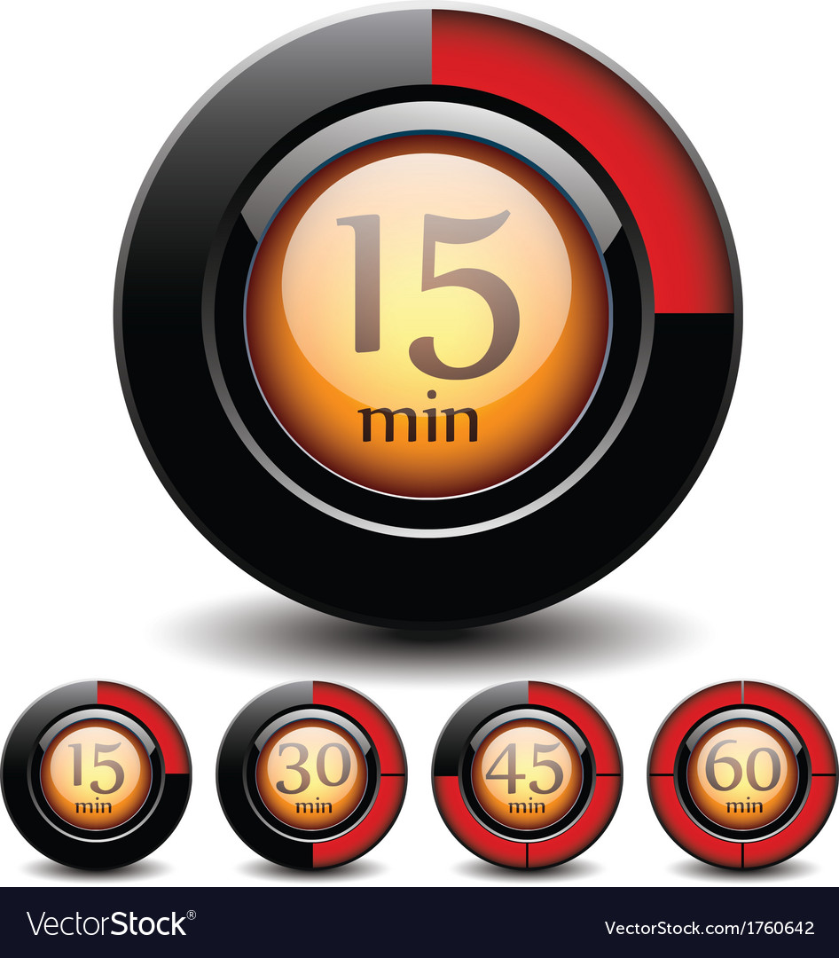 Set of digital buttons vector image