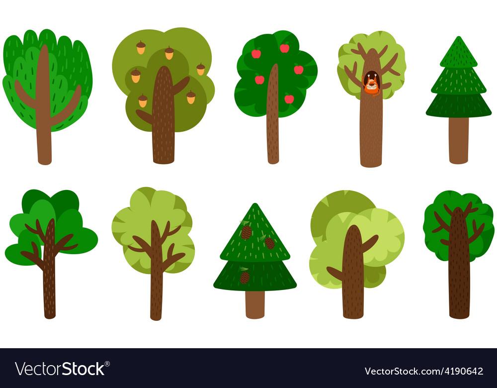 Trees Clip Art Royalty Free Vector Image Vectorstock