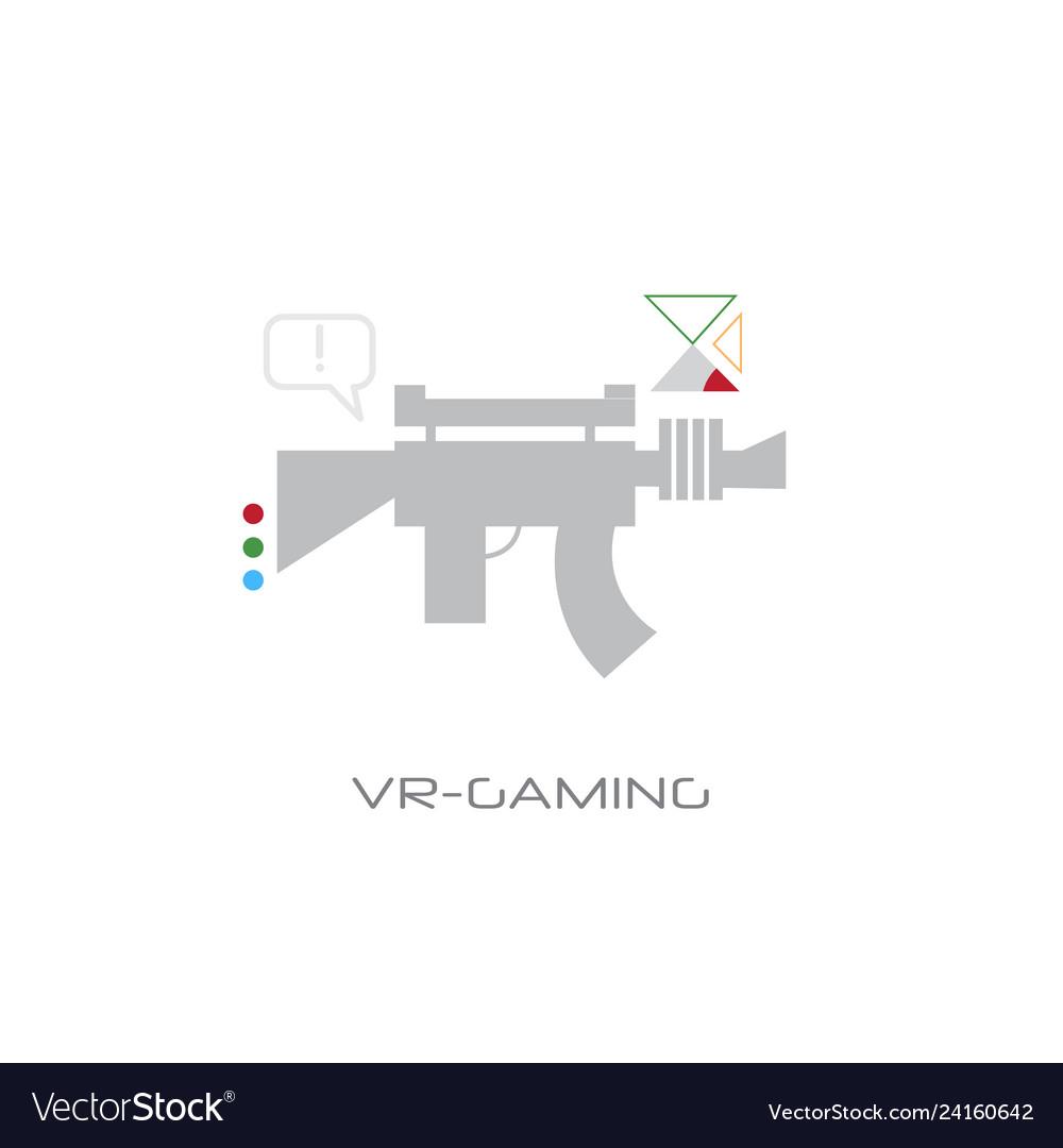 Virtual reality gaming weapon vr digital visual