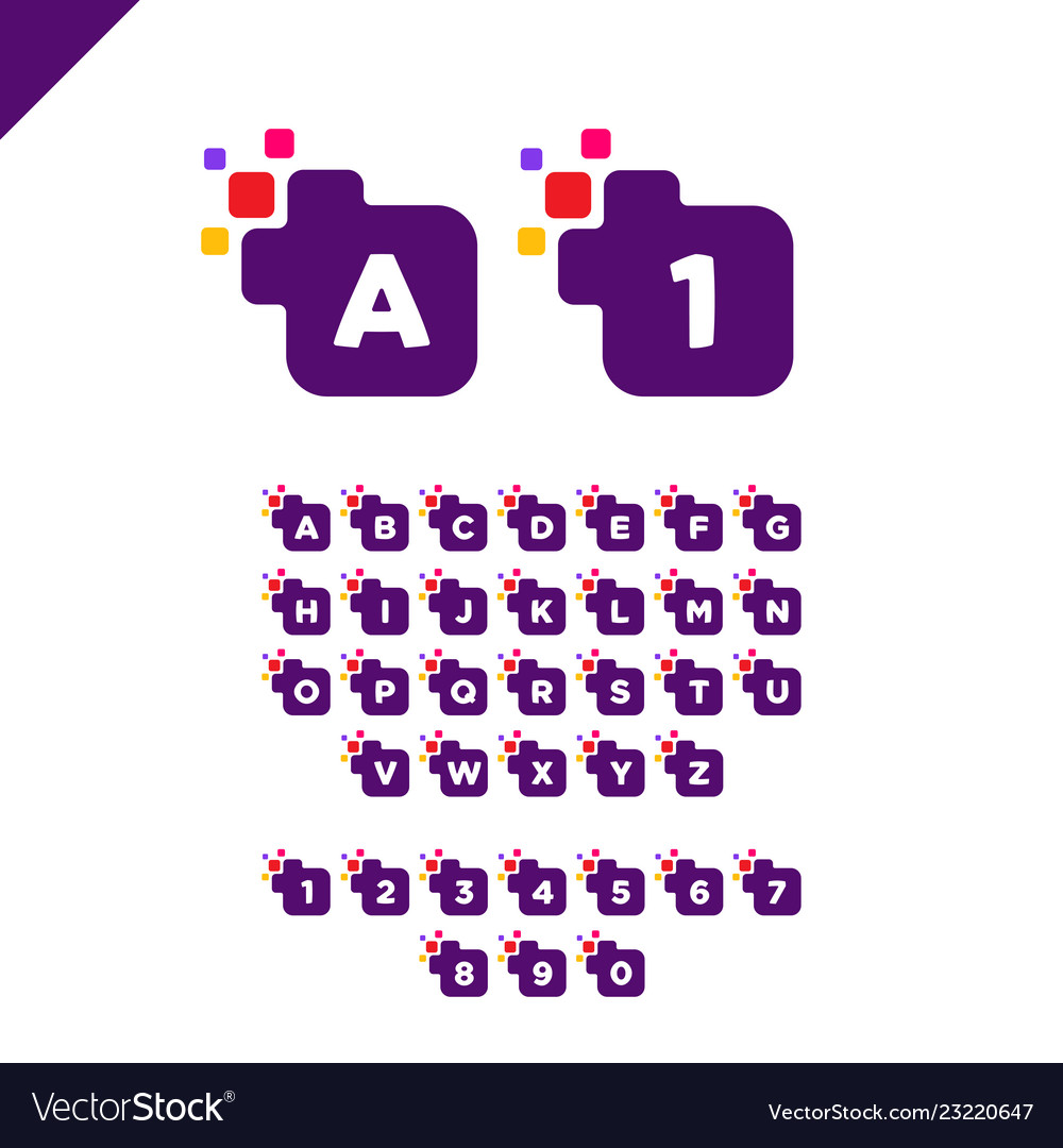 Business corporate square letter font logo design