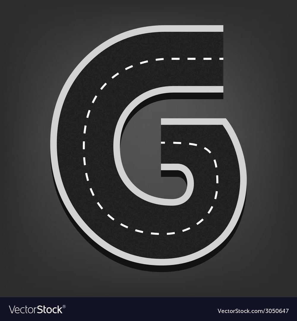 G letter Road font