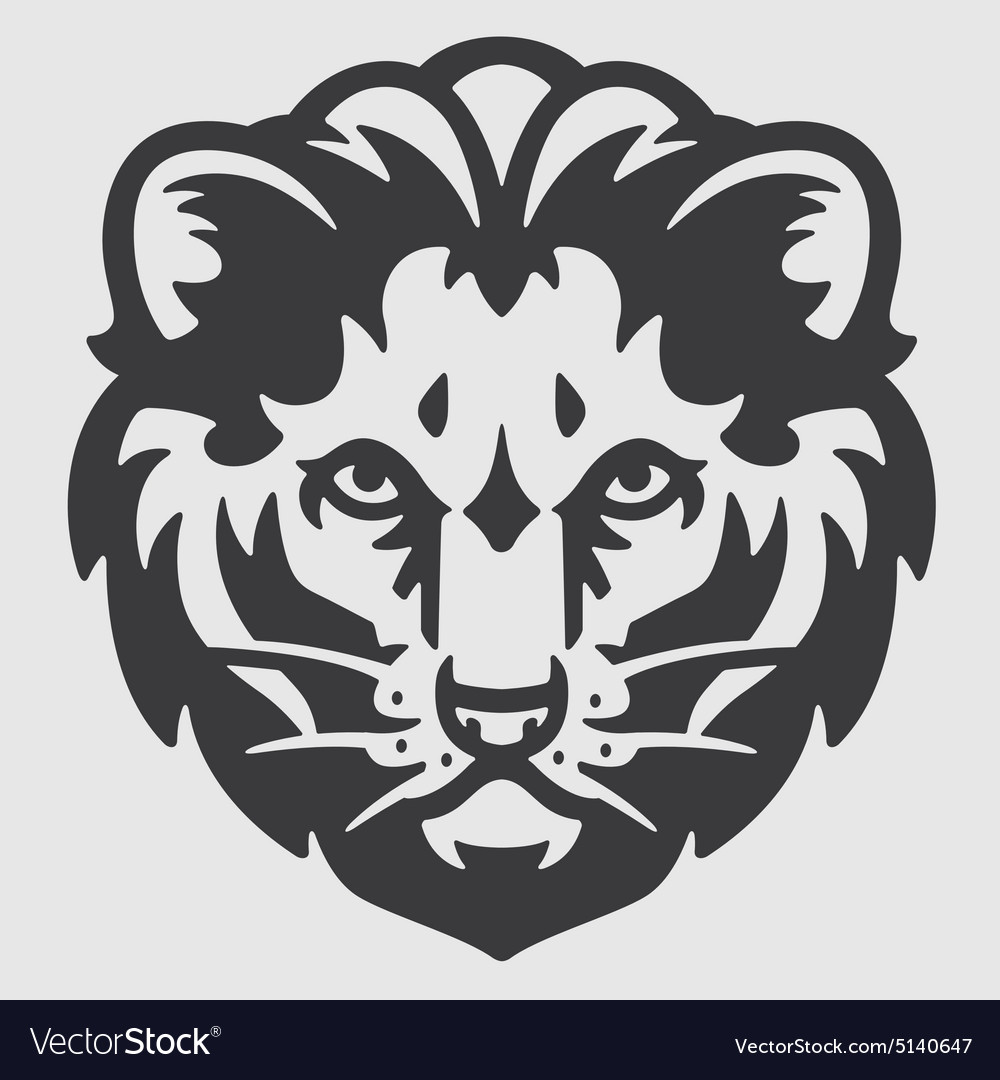 Lion Head Logo Mascot Emblem