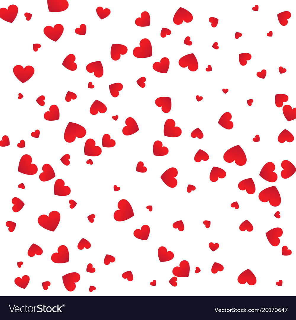 Love background red heart shapes texture pattern Vector Image