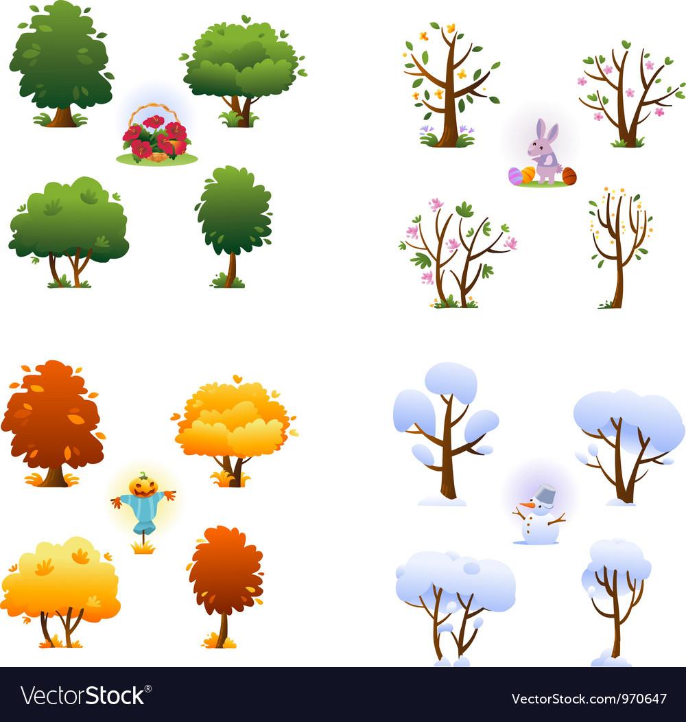 Set of four seasons
