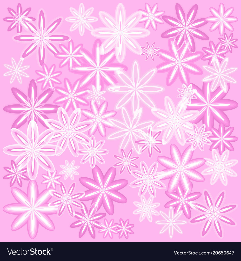 Texture Of Delicate Pink Flowers With A Royalty Free Vector