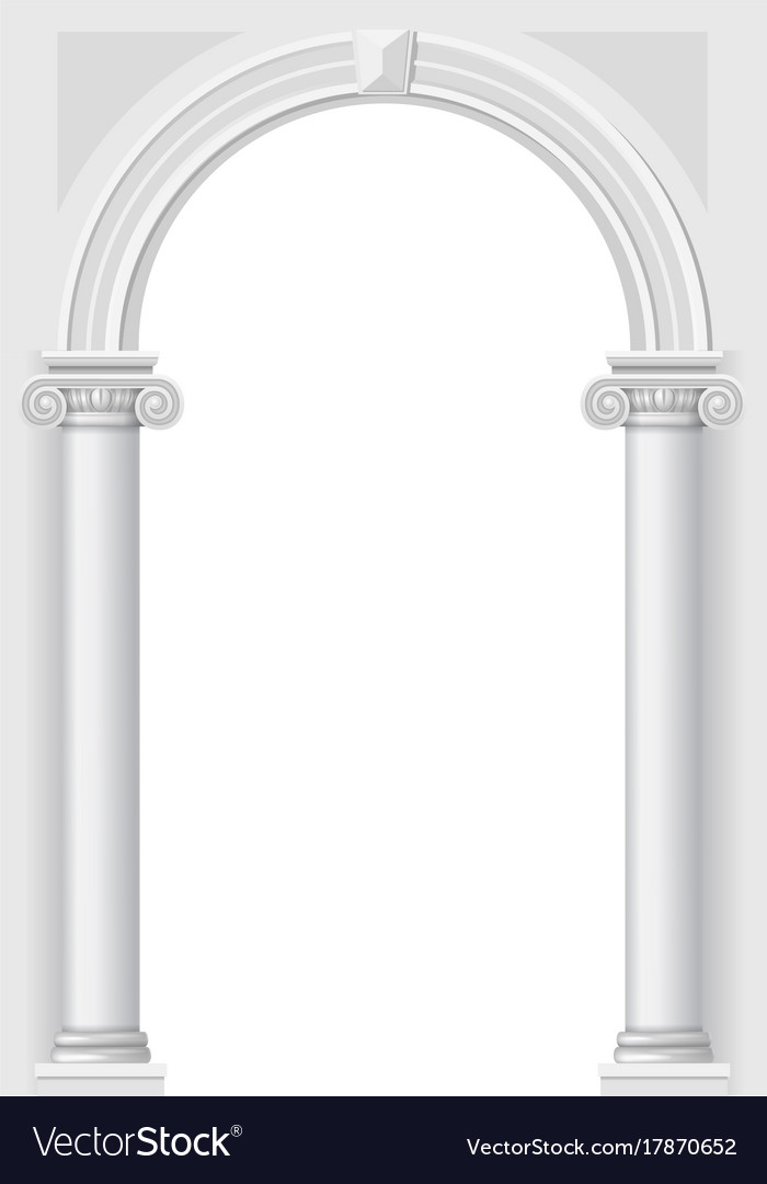 Classical white arch