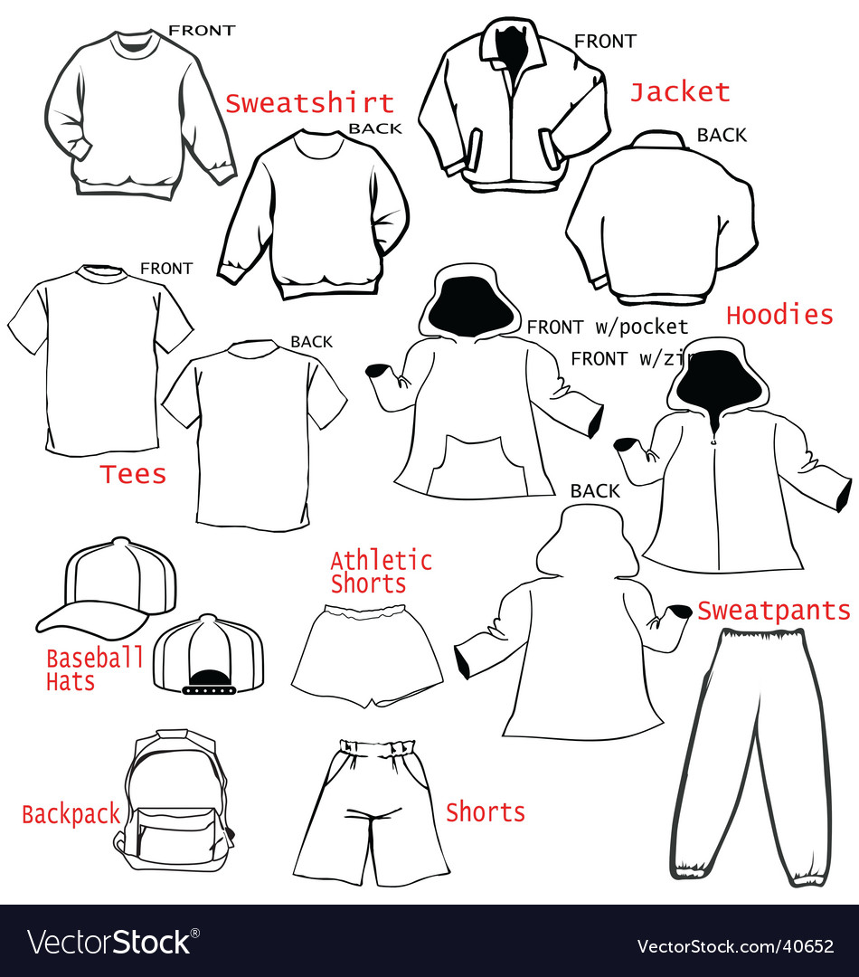 Clothing Templates | Clothing Apparel Templates Royalty Free Vector Image