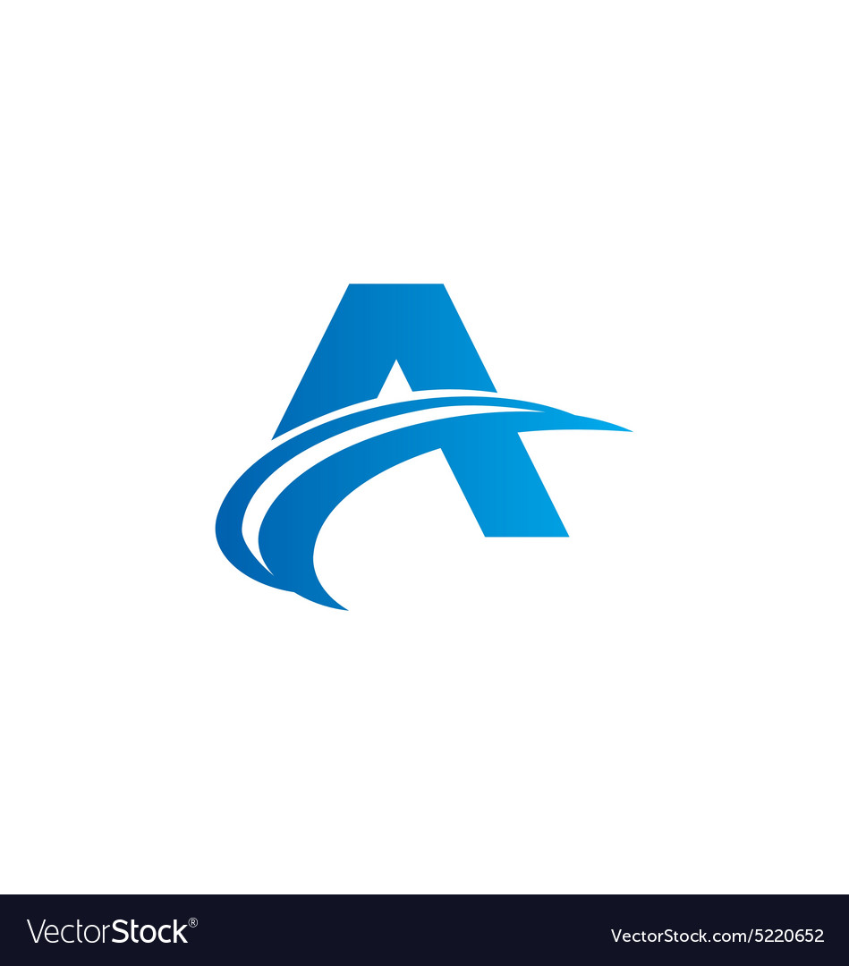 Letter A arrow abstract sign logo vector image